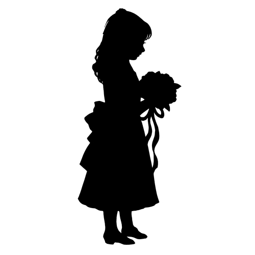 Flower Girl And Ring Bearer Silhouette